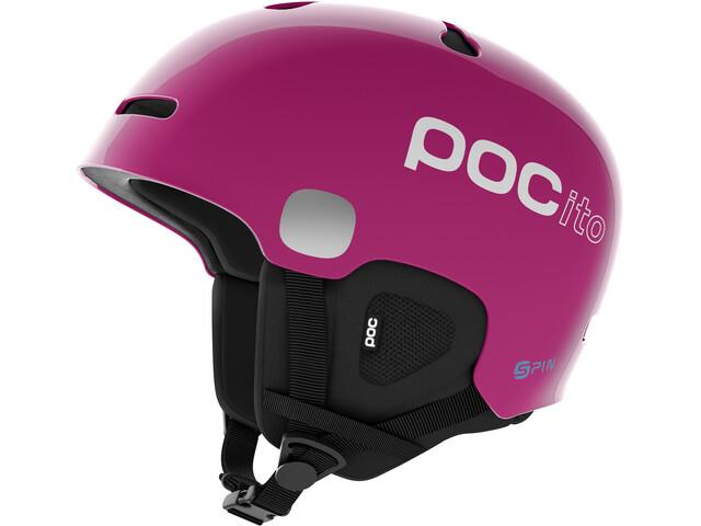 POC POCito Auric Cut Spin Casco Niños, fluorescent pink